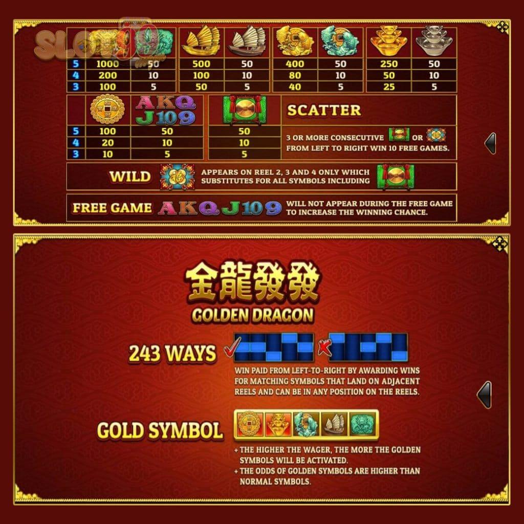 รีวิวเกม Slotxo เกม Golden dragon